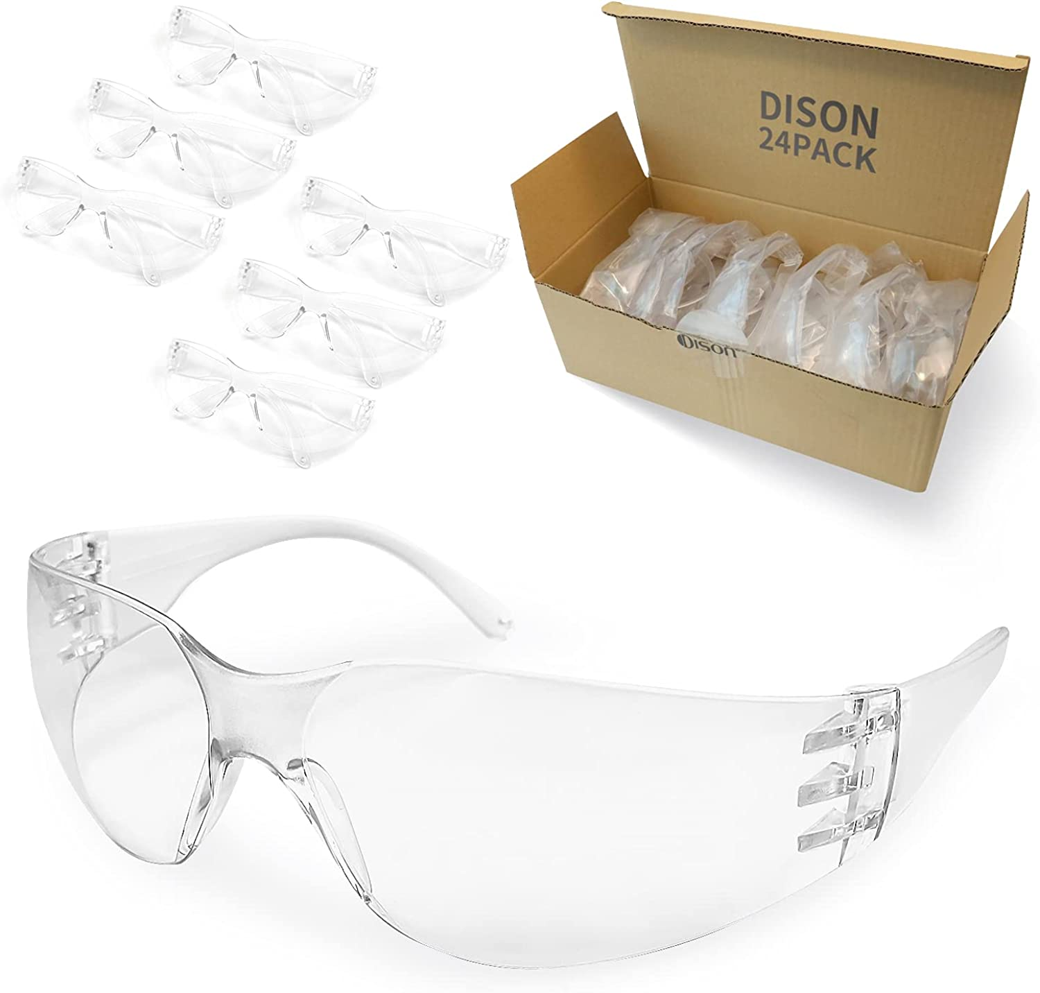 DISON Safety Max 41% OFF Glasses 24Pack Manufacturer direct delivery Eyewear Protection Protective Eye