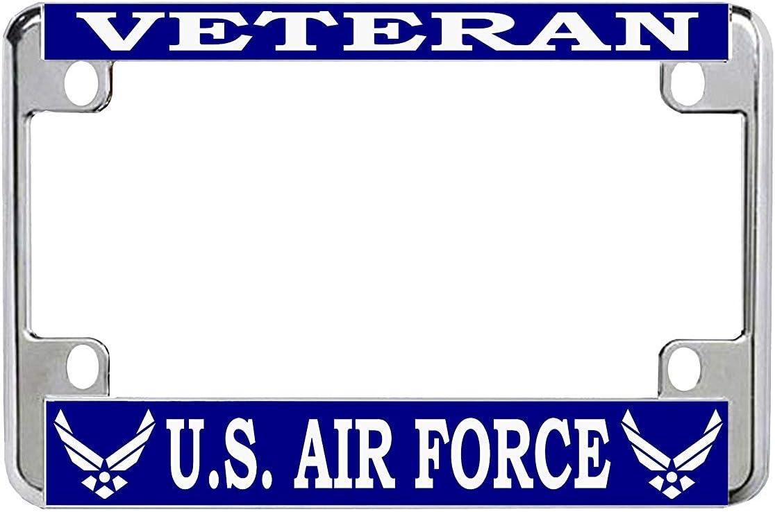 Veteran U.S. Air Force Chrome License New arrival Bike Plat Motorcycle Metal Direct stock discount