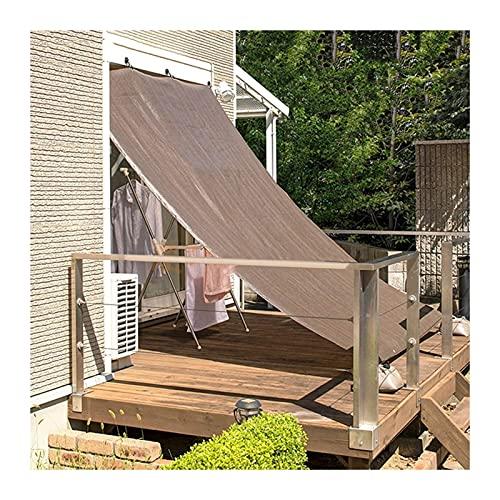 CHAOXIANG Rete Parasole, All'aperto Parasole Isolamento Termico Rete Solare Balcone Tetto Terrazza Calmati Le Tende, Multi-Dimensioni Personalizzabile (Color : A, Size : 2mX5m)