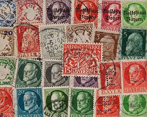 Goldhahn 25 Bayern mit Abschied Briefmarken für Sammler