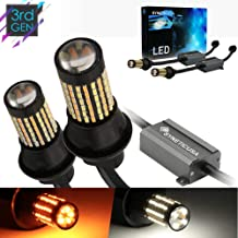 Error Free Canbus Dual Color Switchback LED Turn Signal Light Bulbs No Hyper Flash All in One Built In Resistors (Turn Signal-Amber, 3157)