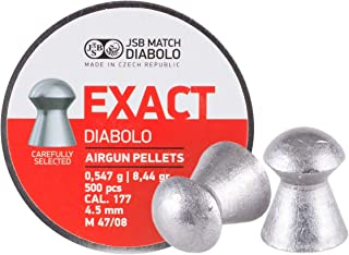 JSB Match Diabolo Exact .177 Cal, 8.44 Grains, Domed, 500ct, 4.53mm