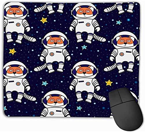 N/A Mouse Pad Fox Astronaut Stars Space Cartoon Stijl Patroon Textiel Cover Inpakpapier Prints Schattig Als Vurige Mousepad 25 * 30Cm