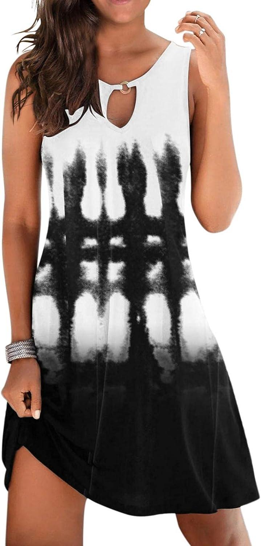 Gerichy Summer Dresses for Women 2021 Casual Floral Printed Boho Short Mini Workout Dress Bodycon Beach Black Dresses