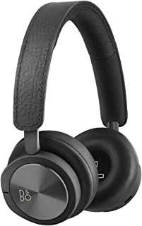 B&O PLAY by Bang & Olufsen Beoplay H8i Wireless Bluetooth On-Ear Headphones with Active Noise Cancellation (ANC), Transparency mode and Microphone Black (Renewed)