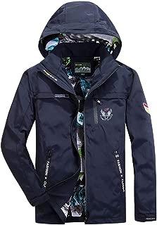 Mens Down Alternative Coat Beautyfine Autumn Casual Outwear Waterproof Quick-Drying Breathable Sport Outdoor Outwear
