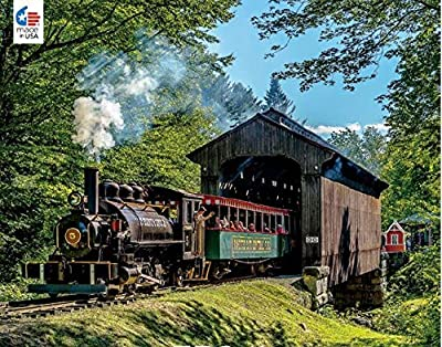 All Aboard Covered Bridge Puzzle - 750Piece from Ceaco