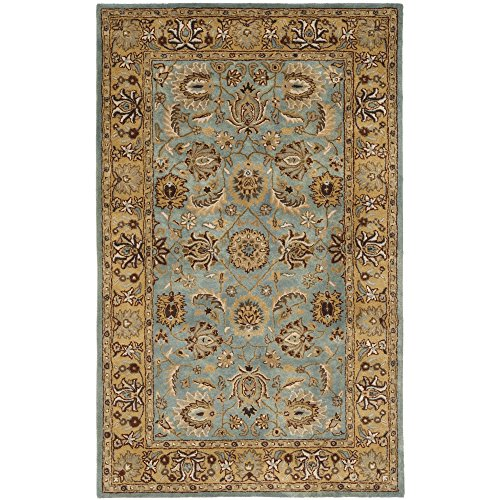 Safavieh Heritage Collection HG958A Handcrafted Traditional Oriental Blue and Gold Wool Area Rug (3'...