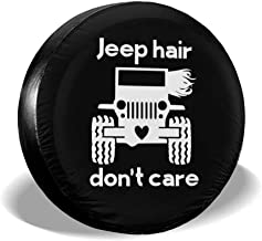 Jeep Hair Don't Care Spare Tire Cover PVC Leather Waterproof Dust-Proof Wheel Tire Cover Fit for Jeep SUV
