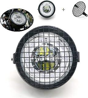 Fari Lampada leggera con copertura e staffa in metallo per incrociatori Cafe Racer Choppers Fari per motocicli LED da 6.5