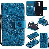 YYhin Cáscara Case para Funda LG G4c/G4 mini/H525N, Cartera extraíble de Piel magnética Desmontable con Monedero, Funda de sujeción para.(Azul)