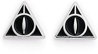 Harry Potter Deathly Hallows Silver Plated Stud Earrings