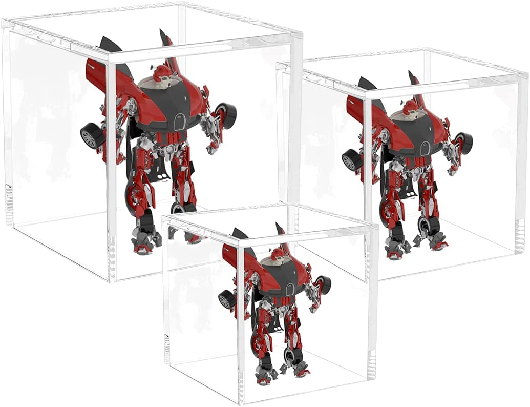 AITEE Acrylic Ultra-Cheap Deals Display Box 3pc Cube Case Sale SALE% OFF Sided 5 Clear