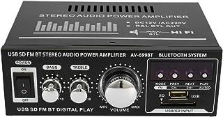 Mini Audio Stereo Leistungsverstärker LCD Display HiFi FM Radio Tragbare Auto Home 400 Watt Fernbedienung Audio Verstärker 12V/ 220V, Modell: AV 699BT