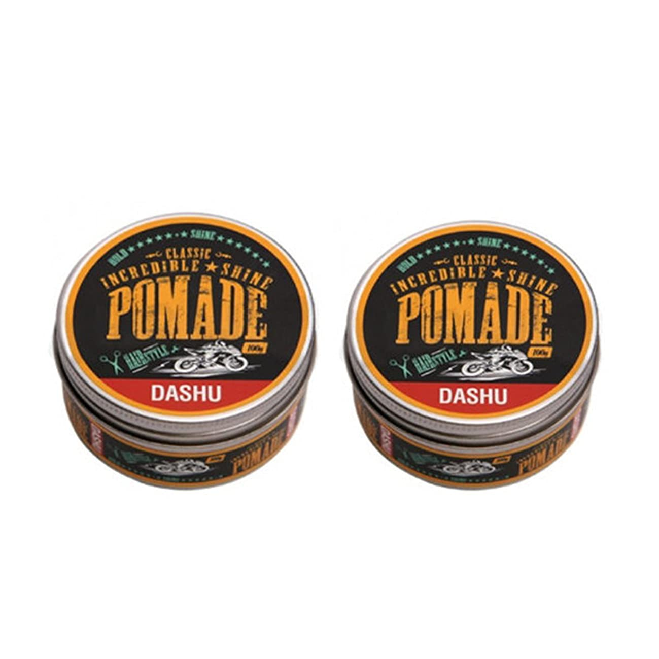 畝間食物してはいけない(2個セット) x [DASHU] ダシュ クラシック 信じられないほどの輝き ポマードワックス Classic Incredible Shine Pomade Hair Wax 100ml / 韓国製 . 韓国直送品