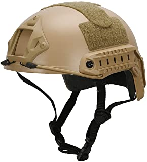 LOOGU Airsoft Helmet, Fast MH Type Bump Tactical Combat Protective Gear for Outdoor Activities with 12-in-1 Face Mask