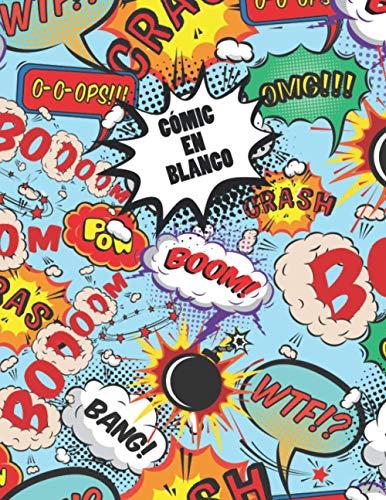 Cómic en Blanco: Libro de Dibujo en Blanco - Cuaderno de 110 Páginas Para Adultos, Adolescentes y Niños (A4) - Cree su Propio Cómic - Variedad de Modelos de Paneles (3-5-7-9 Paneles)