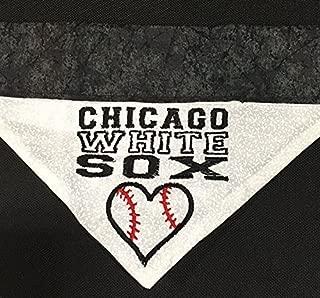Chicago White Sox Dog Bandana/Over the Collar White Sox Dog Bandana/Embroidered Personalized Dog Bandana (All Sizes)