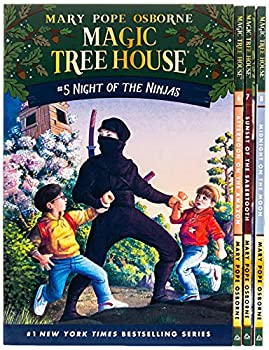 Magic Tree House Boxed Set Books 5-8  Night of the Ninjas Afternoon on the Amazon Sunset of the Sabertooth and Midnight on the Moon