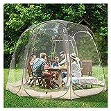 Tienda Camping al aire libre Protección contra el aislamiento de la tienda de campaña de campaña al aire libre Habitación transparente de invierno 360 grados Restaurante Protección de la salud Tienda