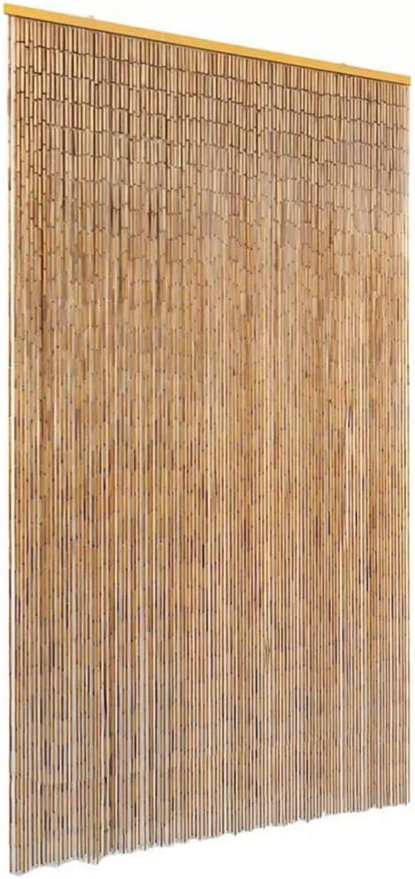 EBTOOLS - Cortina de bambú para puerta (120 x 220 cm, antiinsectos, cortina de pantalla, cortina duradera para interiores, sala de estar, dormitorio, entrada, fácil instalación