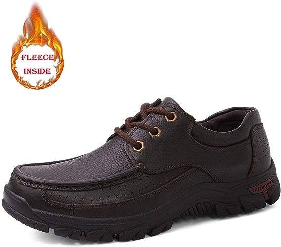 Ruiyue Mode Oxford, Casual Faux Fleece Inside Chaussures Confortables de Loisirs en Plein air à Lacets Bas (conventionnel en Option) pour Les Hommes (Couleur   Warm marron, Taille   39 EU)