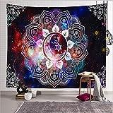 Bubunix Tapiz de Pared para Dormitorio, salón, Colgante, Tapices Indios, Tapices Bohemio, Mandala, Elefante Tapices Hippies Decorativos Alfombra de Pared 130 x 150 cm (Style 12)