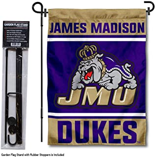 College Flags & Banners Co. James Madison Dukes Garden Flag with Stand Holder