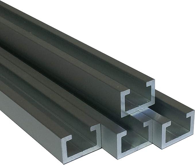 x 2.000+-4 mm M12 Schraube Alu C-Profil ELOXIERT 15x28x8x2 mm