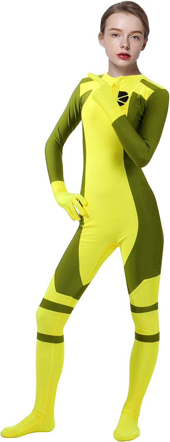 Sheface Lycra Spandex Ms Rogue Bodysuit Adult Zentai Costume for Free Colorado Springs Mall Shipping Cheap Bargain Gift