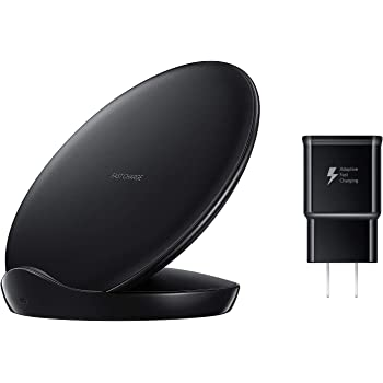 Renewed for Galaxy S8,S9,+,Note8,Note9,iPhone 8,+,X,XS,XR,Max Official Samsung Fast Qi Wireless Stand with Fast Charger /& OTG C Adapter