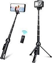 Selfie Stick,45 Inch Extendable Selfie Stick Tripod with Rechargeable Wireless Remote and Phone Tripod Stand,Compatible wi...