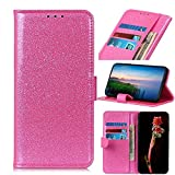 HULDORO Flick Stand Case for Huawei Honor Play 3, Effervescent PU Cuir Wallet Case avec Boucle...