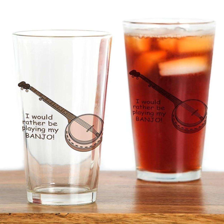 希望に満ちた端末序文CafePress?–?バンジョーデザインPint Glass?–?パイントガラス、16オンスDrinkingガラス クリア 055561945133332