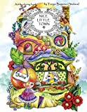 Nice Little Town: Adult Coloring Book (Stress Relieving Coloring Pages, Coloring Book...