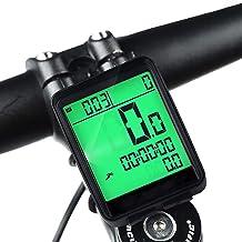 HITECHLIFE Cuentakilómetros para Bicicleta, Impermeable Velocímetro Inalámbrico para Bicicleta, Muti-Funcion Ciclocomputador Ciclismo con Pantalla Grande Retroiluminación LCD Dormir Automáticos