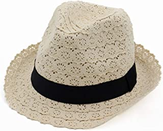 Hats Cotton Lace Hat with Band Womens Ladies Sun Summer Cap Fashion (Color : Beige, Size : Adjustable)