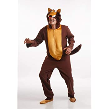 F106 M-L, traje de carnaval de lobo para hombre u. Mujer, Carnaval ...
