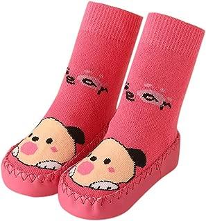 ❤️️ Mealeaf ❤️️ Toddler Baby Boy Girl Cartoon Moccasins Non Slip Indoor Slippers Socks Anti-Slip 0-39 Months