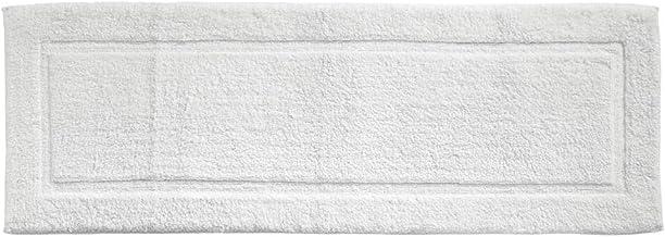 mDesign Soft 100% Cotton Luxury Hotel-Style Rectangular Spa Mat Rug, Plush Water Absorbent, Decorative Border Bathroom Van...