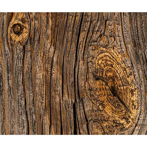 *decomonkey Fototapete Holz 400×280 cm XXL Design Tapete Fototapeten Vlies Tapeten Vliestapete Wandtapete moderne Wand Schlafzimmer Wohnzimmer FOB0169a84XL*