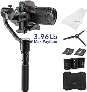 MOZA AirCross Estabilizador de cardán de 3 Ejes Ultraligero para cámaras réflex Digitales sin Espejo de hasta 18 kg de Larga exposición