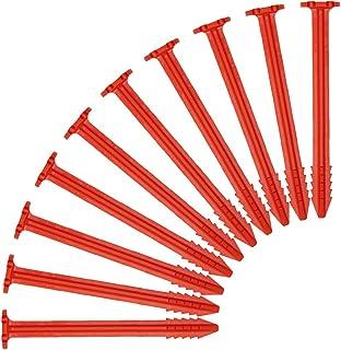 10er Set Zelthaken mit Spiralspitze schwere Ausführung schwarz