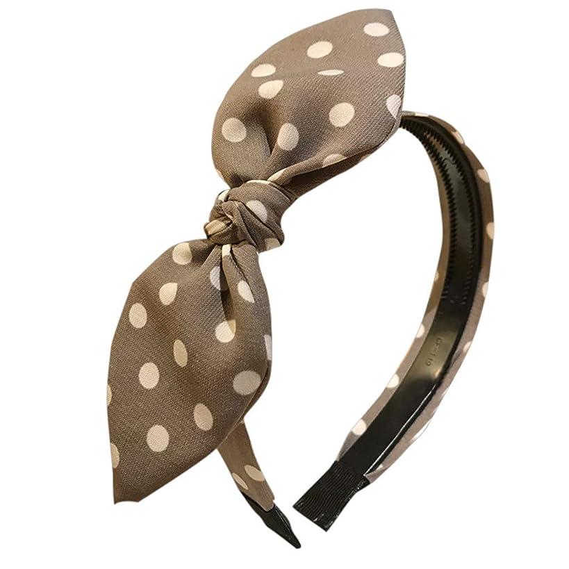YOMXL Hair Band Polka Dots Headband Bendable Bunny Ear Tying Bow Hairwrap Hair Accessories Gift