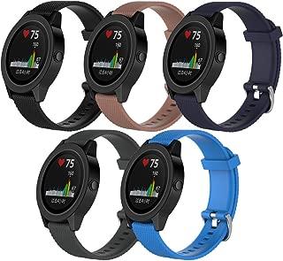 QGHXO Band for Garmin VivoActive 3,  Soft Silicone Replacement Watch Band for Garmin VivoActive 3 / Garmin Vivoactive 3 Music/Garmin Forerunner 645 Music (No Tracker)