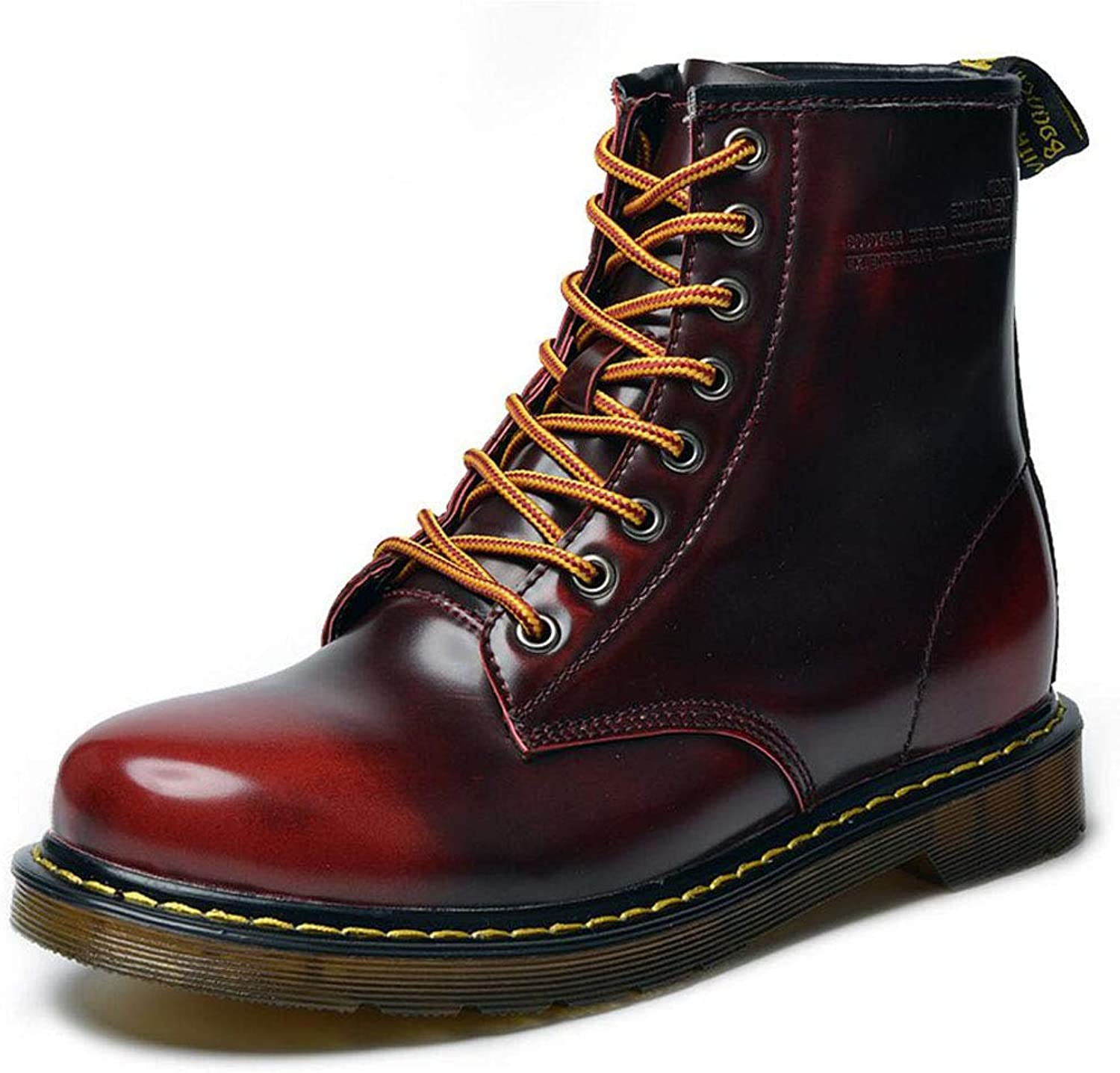 Zxcvb High-top Men's Knight Boots Men's Leather Boots Big Head Tooling shoes Autumn Winter