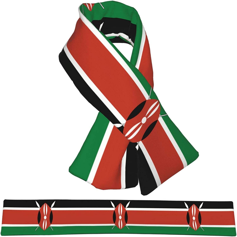 Winter Scarfs Kenya Flag Scarves Wraps Neck Warmer Flannel Winter Cross Tie Scarves