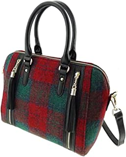 Ladies Harris Tweed Small Shoulder Bag Lilac//Pink Checked LB1120 COL 47