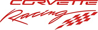 Graphicsplus123 Chevy Corvette Racing Decal (Red)