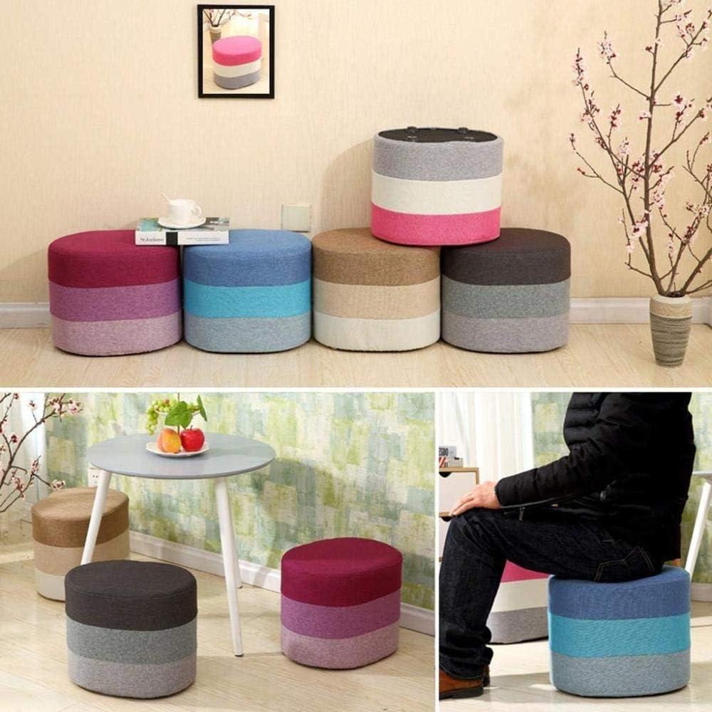 A/N Tabouret Repose-Pieds - Tabouret Créatif Petit Tabouret Chaise en Bois Massif Tabouret Maison Multifonction-Marron Violet